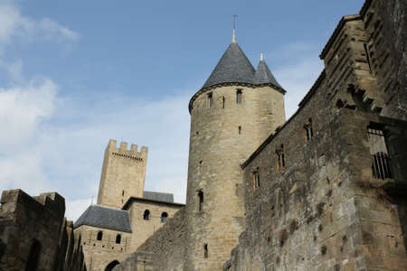 fortified: Fortified city of Carcassonne in Aude,Languedoc region of France Editorial