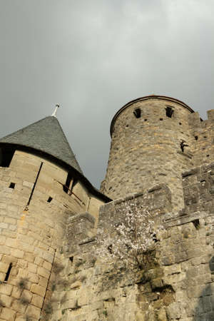 fortify: Castle of Carcassonne in Aude,Languedoc region of France Editorial