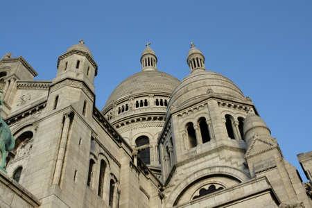 coeur: Basilica of sacre coeur in Montmartre,Paris. Stock Photo