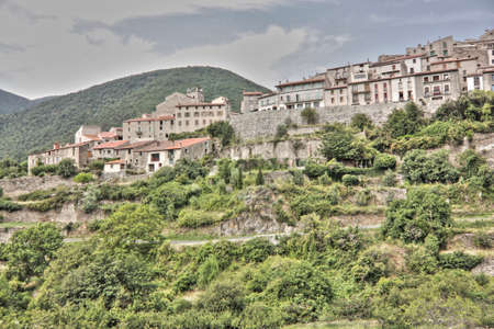 pyrenees: Village of Mosset in the Eastern Pyrenees, France Stock Photo