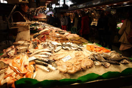 boqueria: Fish stall at La Boqueria, Barcelona