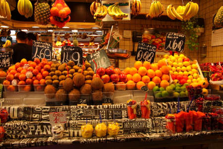 Fruit stall at La Boqueria, Barcelona