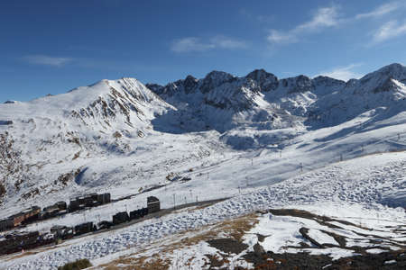pas: City of Pas de la Casa at the border France Andorra Stock Photo