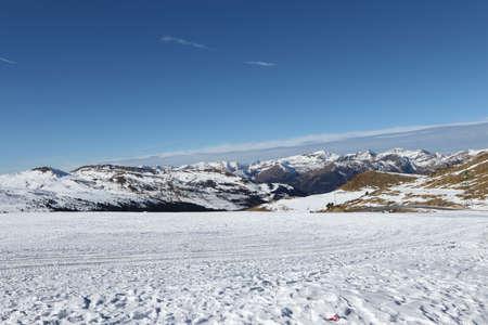 Snowy mountain in Andorra, Pyrenees