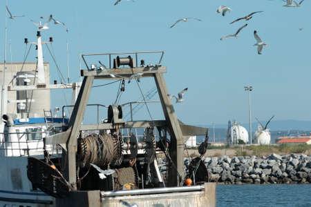 holydays: fishing boat in port-la-nouvelle, Languedoc Region of France Stock Photo