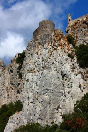 castle of Peyrepertuse in Corbieres, Languedoc region of France Editorial