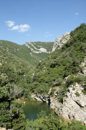 roussillon: Gorges de galamus in France