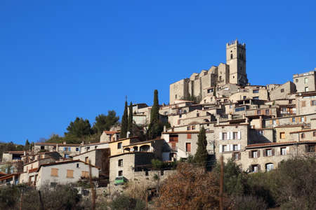 roussillon: Village of Eus in Pyrenees orientales, France