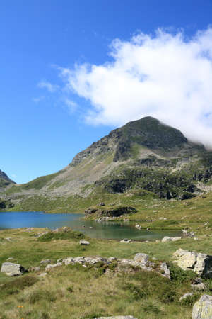 Lake of Fontargente in Pyrenees, France Stock Photo