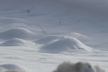 bumps: Snow bumps in winter, Pyrenees Stock Photo
