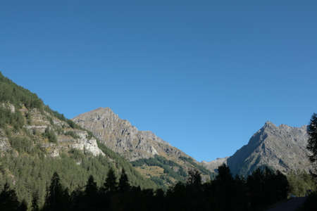 alpes: Mountains in Alps, Champsaur, Provence region of France Stock Photo