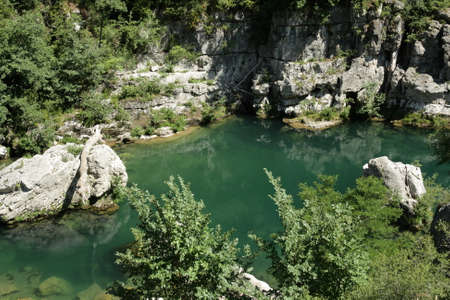 Tarn river in Gorges du Tarn or Tarn canyon in France