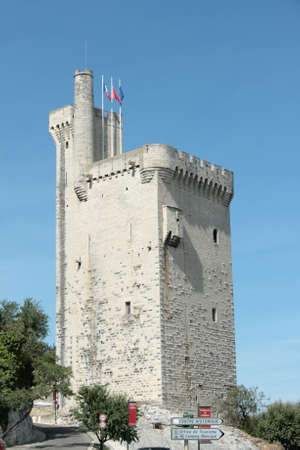Tower Philippe le Bel in Villeneuve les Avignons in Gard, Languedoc in south of France