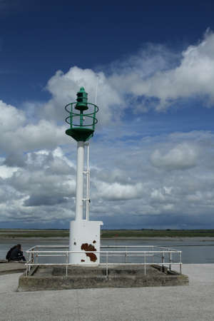 manche: Headlight in bay of Somme in Picardy, France