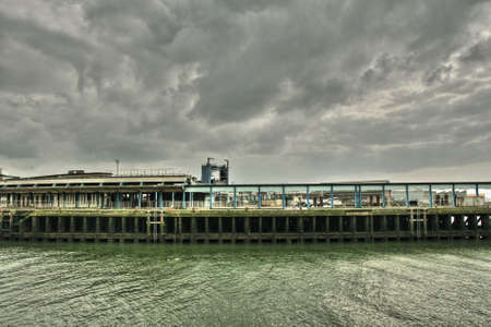 manche: Industrial port of Boulogne sur Mer in Nord, France Stock Photo