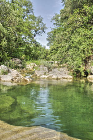 River lauquet in Corbieres, Aude, Occitanie in south of France