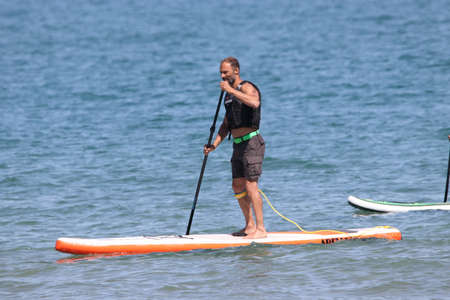 mondial: Paddle at Mondial du vent or World Wind in Leucate, France
