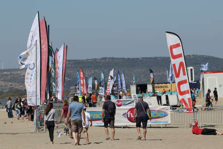 Mondial du vent or World Wind in Leucate, Sliding sports competition in Occitanie, south of France