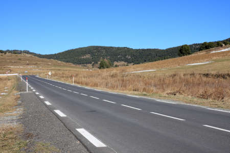 roussillon: Road in Capcir, Pyrenees orientales in south of France Stock Photo
