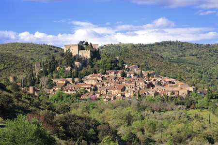 roussillon: Village of Castelnou in Pyrenees orientales, South of France