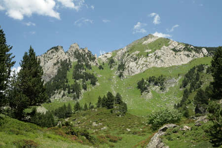 Pyrenean landscape in Ariege, Occitanie in south of France
