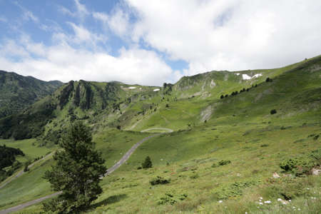 Pailheres pass in Ariege, Occitanie in south of France