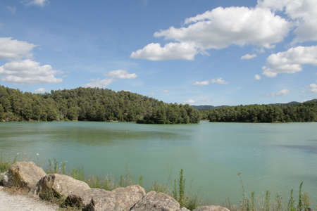 Lake of Cavayere in Aude, Occitanie in south of France