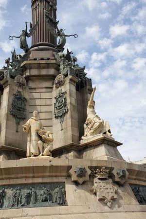 Columbus Monument or Monument to Colon or Mirador de Colon in Barcelona, ??Spain.