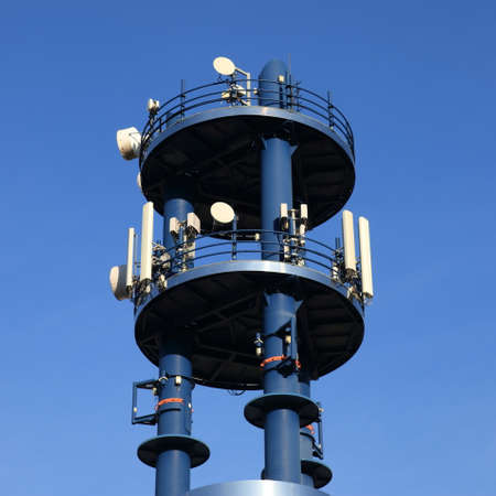 cell site or cell tower Stock Photo