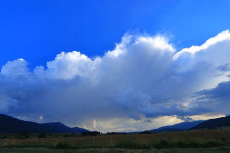cloudy background in pyrenean sky, France