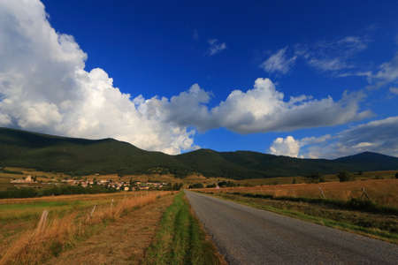 Pyrenean road in Capcir, Roussillon in the southern of France