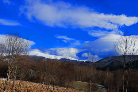 Pyrenean landscape in Aude , Occitanie in the southern of France Stockfoto