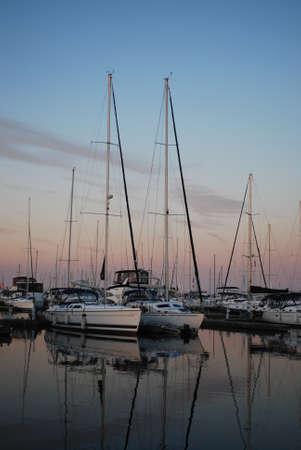 Yachts on the Ontario Lake Stock Photo