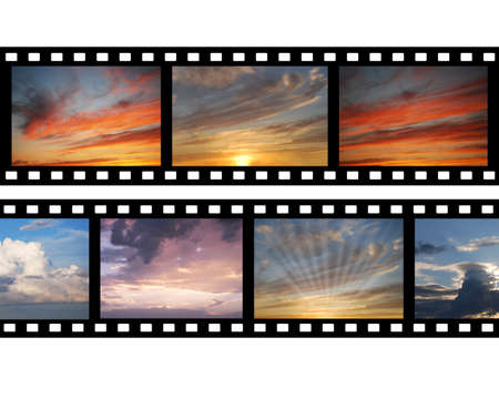 Film with images of sky