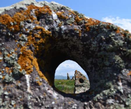 Qarahunch ancient observatory, Armenia Stock Photo - 9995140