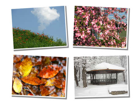 Photos presenting four seasons photo