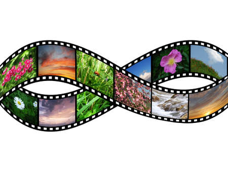 Films with images of nature Stock Photo
