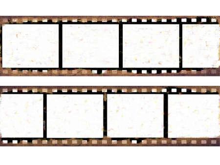 Old film frames Stock Photo