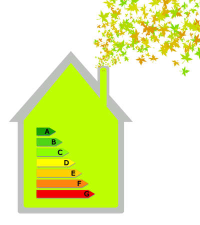 House with energy classification Stock Photo - 9995119