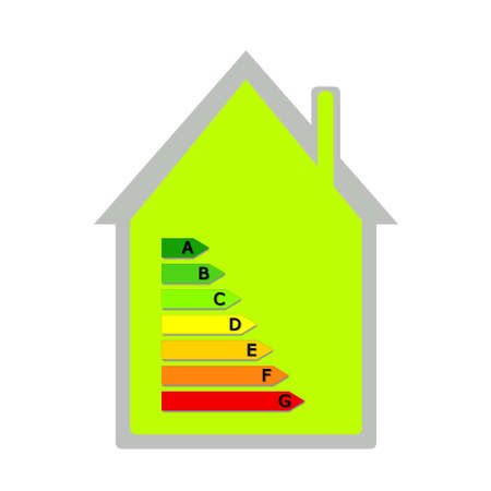 House with energy classification Stock Photo - 9995115