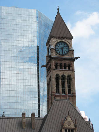 Clock Tower in the center of Toronto, Canada