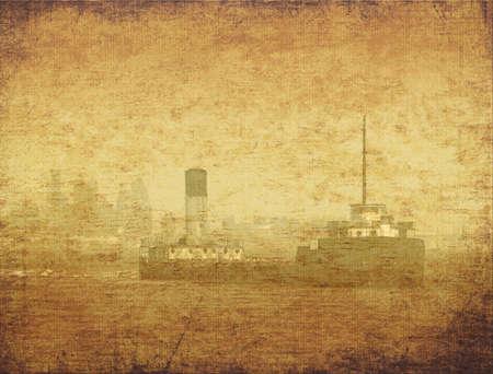 Vintage image of a ship