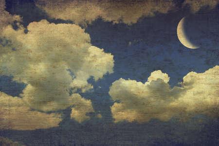 Vintage image of night sky