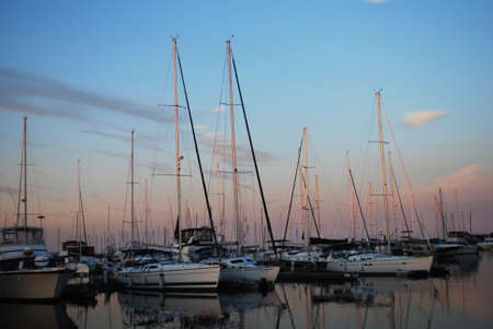 Yachts on the Ontario Lake Stock Photo