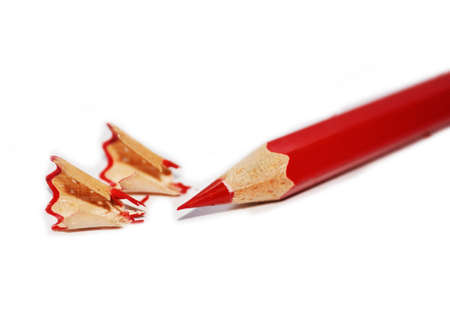 Just sharpened red pencil Stock Photo