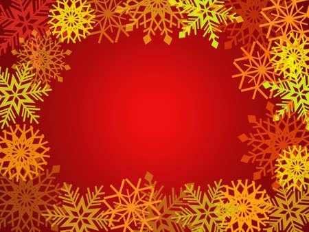 Illustration with snowflakes  illustration