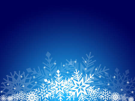 holiday picture: Christmas card with snowflakes