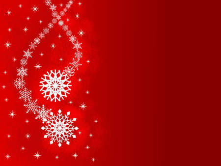 Christmas card with snowflakes photo