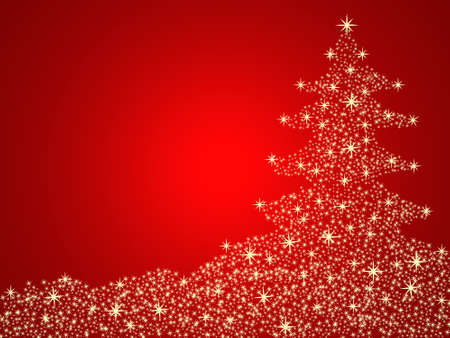Christmas tree red background Stock Photo - 10430451