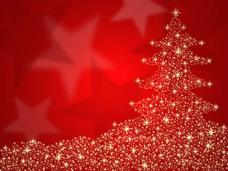 Christmas tree red background  photo